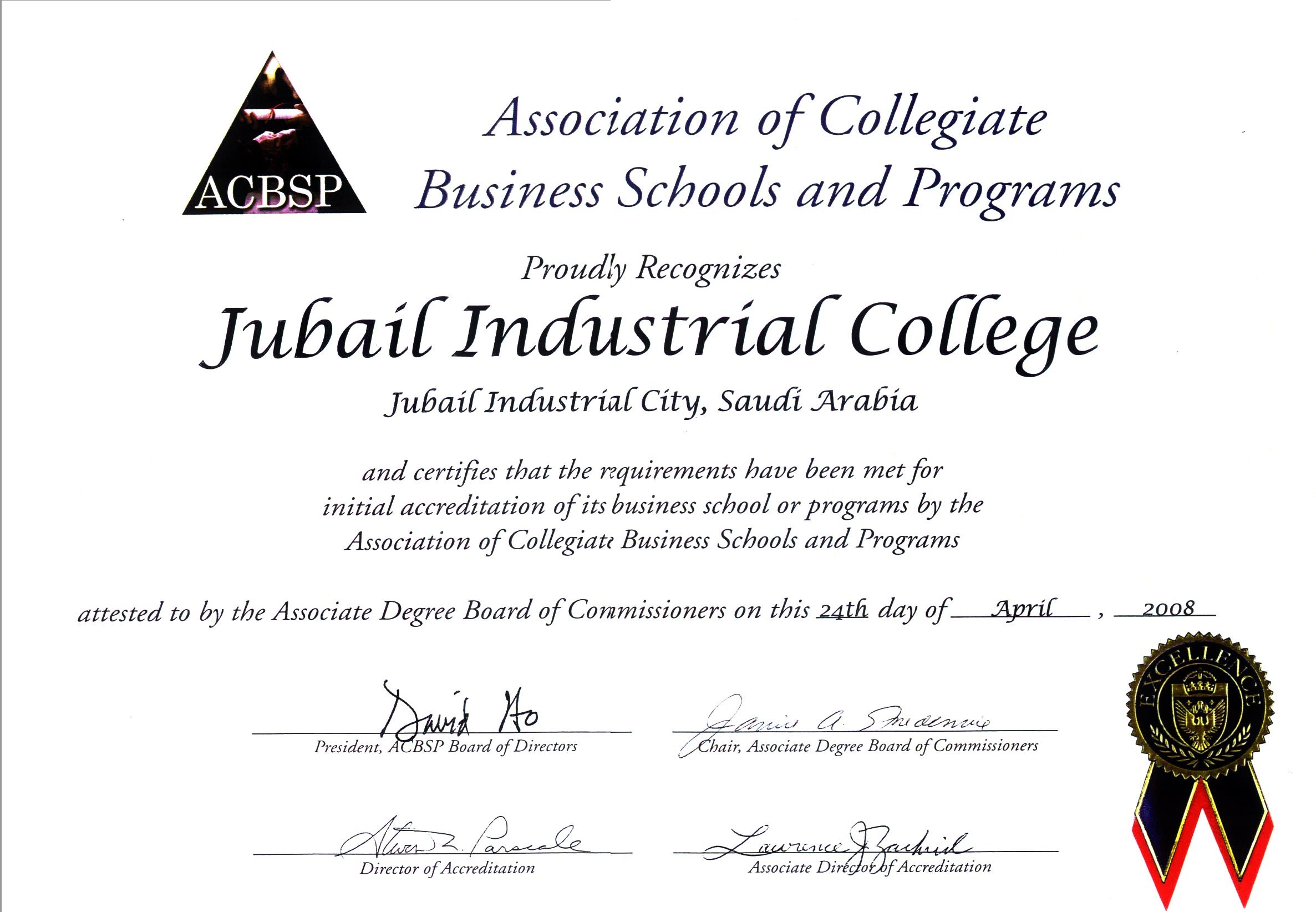 Mit Quality Assurance Report 2016 Acbsp Accreditation Certificate